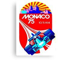 """MONACO GRAND PRIX"" Vintage Auto Racing Advertising Print Canvas Print"