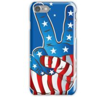 American Patriotic Victory Peace Hand Fingers Sign iPhone Case/Skin