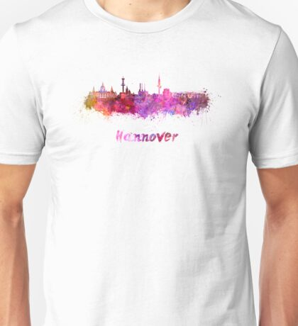Hannover skyline in watercolor Unisex T-Shirt