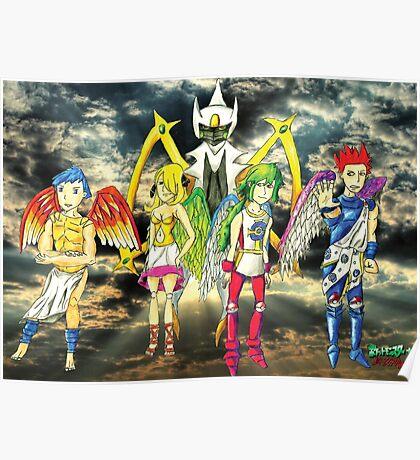Pokémon + Shin Megami Tensei - Law Poster Poster