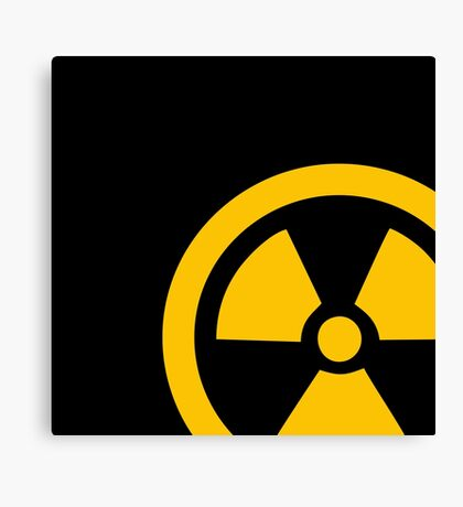 Yellow Radioactive Canvas Print