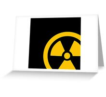 Yellow Radioactive Greeting Card