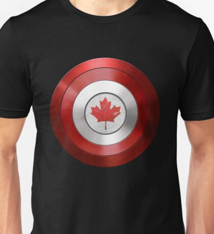 CAPTAIN CANADA - Captain America inspired Canadian shield Unisex T-Shirt