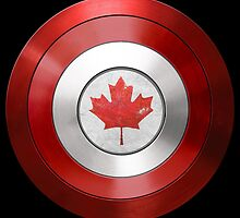 CAPTAIN CANADA - Captain America inspired Canadian shield by infrablue