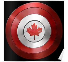 CAPTAIN CANADA - Captain America inspired Canadian shield Poster