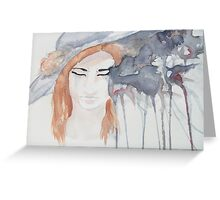 Blue Hat Greeting Card