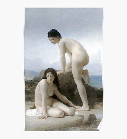 Les Deux Baigneuses by William Bouguereau Poster