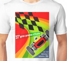 """ITALY GRAND PRIX"" Vintage Auto Racing Advertising Print Unisex T-Shirt"