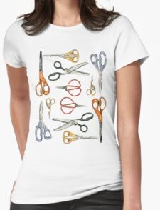 Scissors Collection Womens Fitted T-Shirt