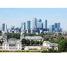 Canary Wharf Skyline - view from Greenwich Photographic Print