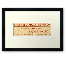 Sheffield Invasion Committee, c. 1940 Framed Print