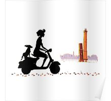 enjoy with vespa Poster