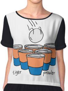 Beer Pong Auburn Tiger Prowler Chiffon Top