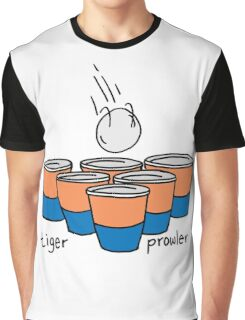 Beer Pong Auburn Tiger Prowler Graphic T-Shirt