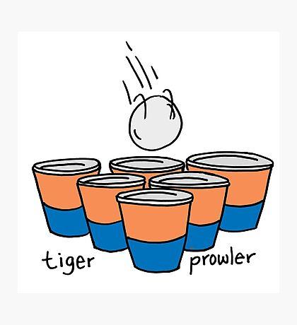 Beer Pong Auburn Tiger Prowler Photographic Print