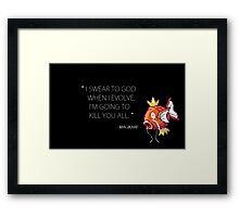 Evil magikarp Framed Print