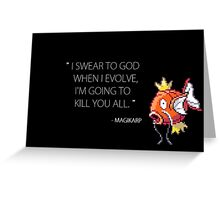 Evil magikarp Greeting Card