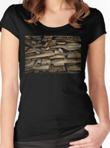 firewood 2 Women's Fitted Scoop T-Shirt