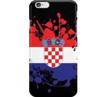 Croatia Flag Ink Splatter iPhone Case/Skin