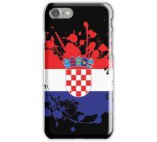 Croatia Flag Ink Splatter iPhone Case/Skin