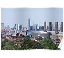 London Skyline Skyscrapers view from Greenwich Poster