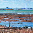 Fawley power station from Weston Shore Hampshire by martyee