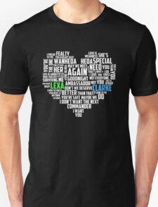 Clarke & Lexa quotes: best of ; Unisex T-Shirt