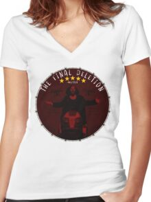 The Final Deletion Women's Fitted V-Neck T-Shirt