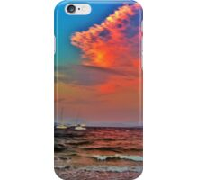 Raging ocean under a colourful sky iPhone Case/Skin