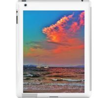 Raging ocean under a colourful sky iPad Case/Skin