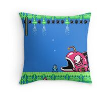 Mega Man Fish Trouble Throw Pillow