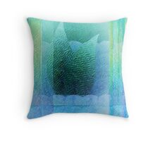 Mermaid Tail Abstract 2 Throw Pillow
