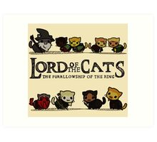 Lord Of the Cats - The Furrlowship of the Ring top edition Art Print