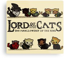Lord Of the Cats - The Furrlowship of the Ring top edition Metal Print