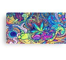 Psychedelic Slug  Canvas Print