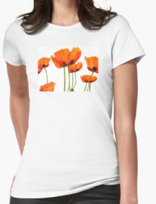 Poppies! Womens Fitted T-Shirt