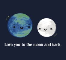 Love You to the Moon and Back One Piece - Short Sleeve