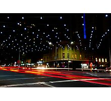 Russell and Lonsdale by Night - Melbourne, Victoria Photographic Print