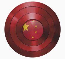 CAPTAIN CHINA - Captain America inspired Chinese shield Kids Tee