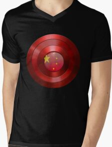 CAPTAIN CHINA - Captain America inspired Chinese shield Mens V-Neck T-Shirt