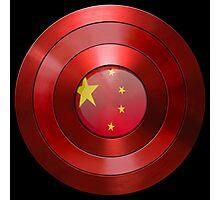 CAPTAIN CHINA - Captain America inspired Chinese shield Photographic Print