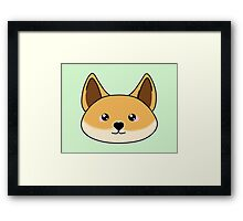 Cute dingo - Australian animal design Framed Print