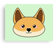 Cute dingo - Australian animal design Canvas Print