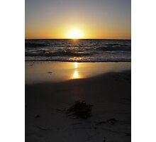 Golden glow over the horizon Photographic Print