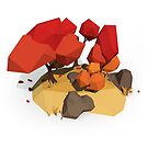 Low Poly Faceted Autumn Trees by BitGem