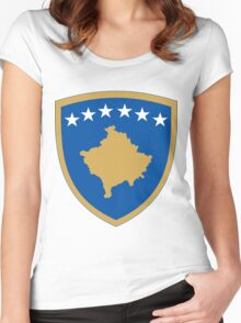 Kosovo Coat of Arms Women's Fitted Scoop T-Shirt