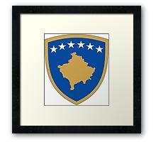 Kosovo Coat of Arms Framed Print