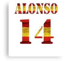 Alonso - 14 Canvas Print