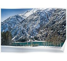 Achensee Lake During Winter Poster