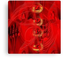 Love is more than just a game for two - Abstract  Art + Products Design  Canvas Print